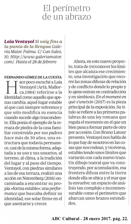 Laia Ventayol ABC Cultural, Gómez de la Cuesta