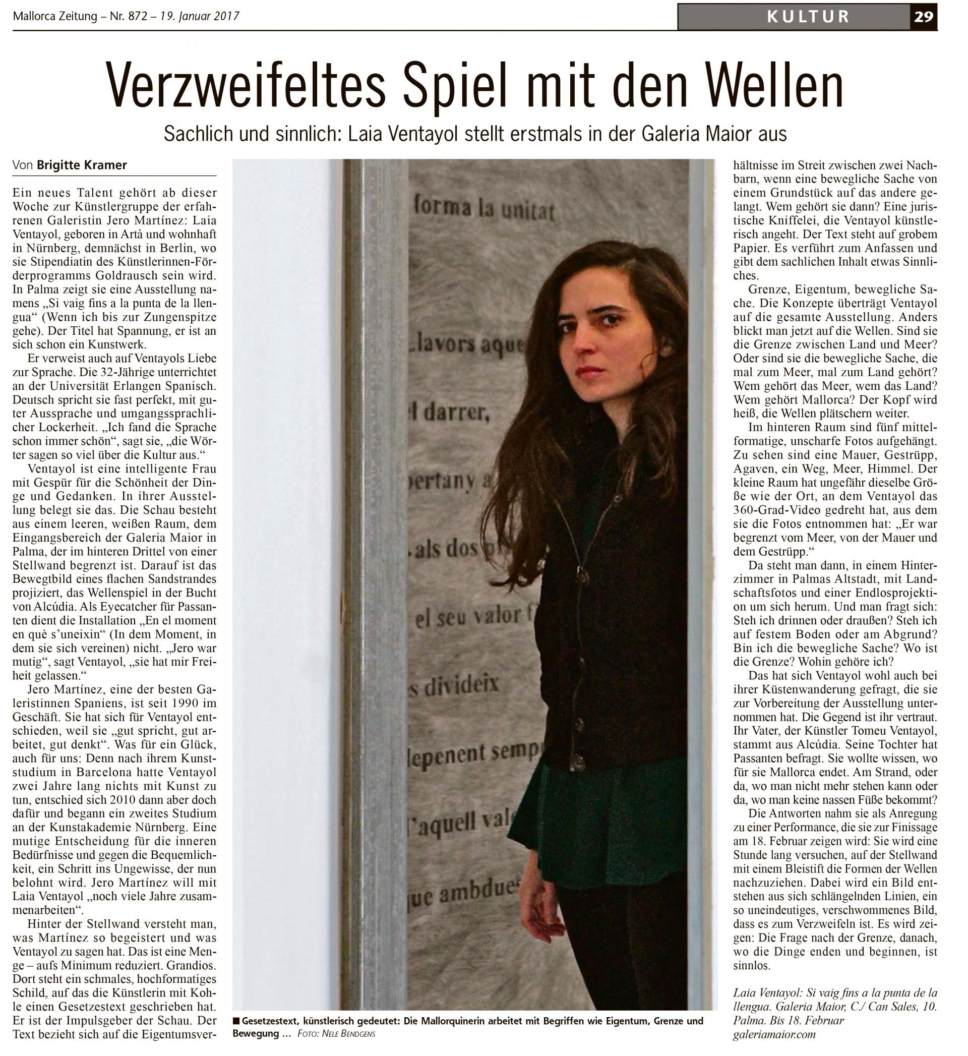 Laia Ventayol Mallorca Zeitung, Brigitte Kramer